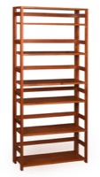 "Flip Flop 67"" High Folding Bookcase - Cherry"
