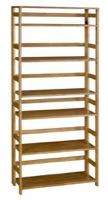 "Flip Flop 67"" High Folding Bookcase - Medium Oak"