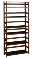 "Flip Flop 67"" High Folding Bookcase - Mocha Walnut"