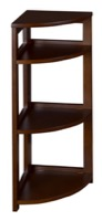 "Flip Flop 34"" High Corner Folding Bookcase - Mocha Walnut"