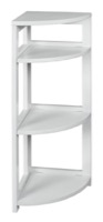 "Flip Flop 34"" High Corner Folding Bookcase - White"