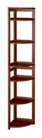 "Flip Flop 67"" High Corner Folding Bookcase - Cherry"