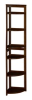 "Flip Flop 67"" High Corner Folding Bookcase - Mocha Walnut"