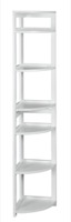 "Flip Flop 67"" High Corner Folding Bookcase - White"