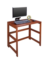 "Work At Home Flip Flop 31"" Folding Desk - Cherry"