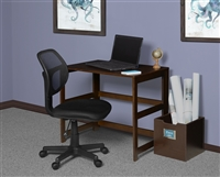 "Flip Flop 31"" Folding Desk - Mocha Walnut"