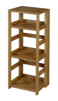 "Flip Flop 34"" High Square Folding Bookcase - Medium Oak"