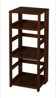 "Flip Flop 34"" High Square Folding Bookcase - Mocha Walnut"
