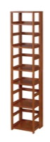 "Flip Flop 67"" High Square Folding Bookcase - Cherry"