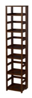 "Flip Flop 67"" High Square Folding Bookcase - Mocha Walnut"