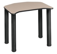 "Ferris 26"" x 24"" Desk  - Beige/ Black"