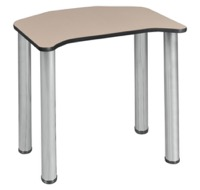 "Ferris 26"" x 24"" Desk  - Beige/ Chrome"