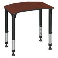 "Ferris 26"" x 24"" Height Adjustable Student Desk - Cherry"