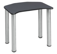 "Ferris 26"" x 24"" Desk  - Grey/ Chrome"