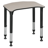 "Ferris 26"" x 24"" Height Adjustable Student Desk - Maple"