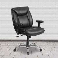 Big &Tall Black Leather Chair