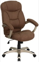 Brown Microfiber office chair