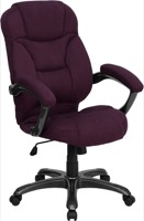 Purple Microfiber office chair