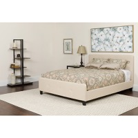 Queen Platform Bed Set Beige