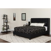 King Platform Bed Set Black