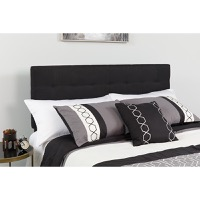 Bedford Tufted Upholstered King Size Headboard - Black Fabric