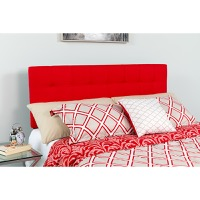 Bedford Tufted Upholstered King Size Headboard - Red Fabric