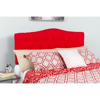 Cambridge Tufted Upholstered King Size Headboard - Red Fabric