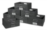 Niche Cubo Set of 12 Half-Size Foldable Fabric Storage Bins - Grey