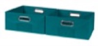 Niche Cubo Set of 2 Half-Size Foldable Fabric Storage Bins - Teal