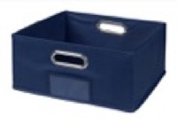 Niche Cubo Half-Size Foldable Fabric Storage Bin - Blue