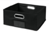 Niche Cubo Half-Size Foldable Fabric Storage Bin - Black