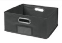 Niche Cubo Half-Size Foldable Fabric Storage Bin - Grey