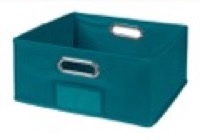 Niche Cubo Half-Size Foldable Fabric Storage Bin - Teal