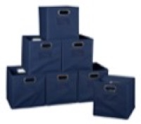 Niche Cubo Set of 12 Foldable Fabric Storage Bins - Blue