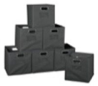 Niche Cubo Set of 12 Foldable Fabric Storage Bins - Grey