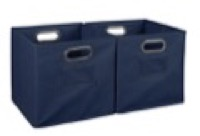 Niche Cubo Set of 2 Foldable Fabric Storage Bins - Blue