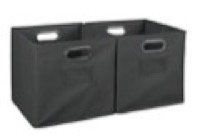 Niche Cubo Set of 2 Foldable Fabric Storage Bins - Grey