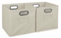 Niche Cubo Set of 2 Foldable Fabric Storage Bins - Natural