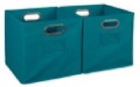 Niche Cubo Set of 2 Foldable Fabric Storage Bins - Teal
