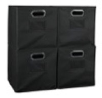 Niche Cubo Set of 4 Foldable Fabric Storage Bins - Black