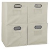 Niche Cubo Set of 4 Foldable Fabric Storage Bins - Natural