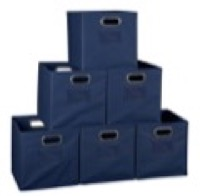 Niche Cubo Set of 6 Foldable Fabric Storage Bins - Blue