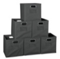 Niche Cubo Set of 6 Foldable Fabric Storage Bins - Grey