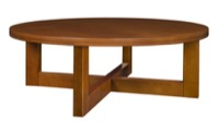 "Chloe 37"" Round Coffee Table - Cherry"