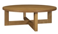 "Chloe 37"" Round Coffee Table - Medium Oak"