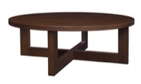 "Chloe 37"" Round Coffee Table - Mocha Walnut"