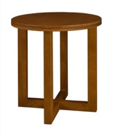 "Chloe 21"" Round End Table - Cherry"