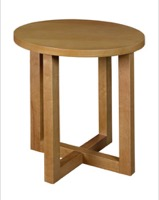 "Chloe 21"" Round End Table - Medium Oak"
