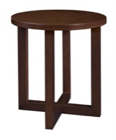 "Chloe 21"" Round End Table - Mocha Walnut"