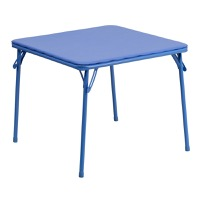 Blue folding table set